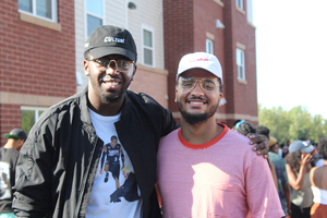 Blacker the Berry co-founders Ryan Bolton, left, and Josh Floyd, right, came up with the idea for the festival last week as a response to University Union's Juice Jam. They felt not all student voices were being represented by the festival, so they started their own and donated the profits to students in the Syracuse City School District.