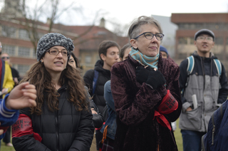 Jackie Orr (right) and 